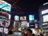 Shibuya's bright, too.